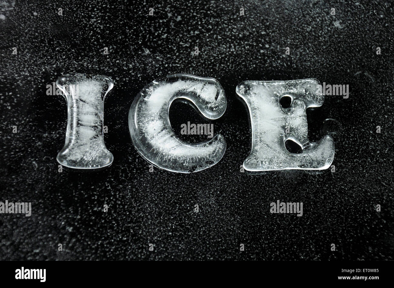 The word ice in ice letters India Asia - Stock Image