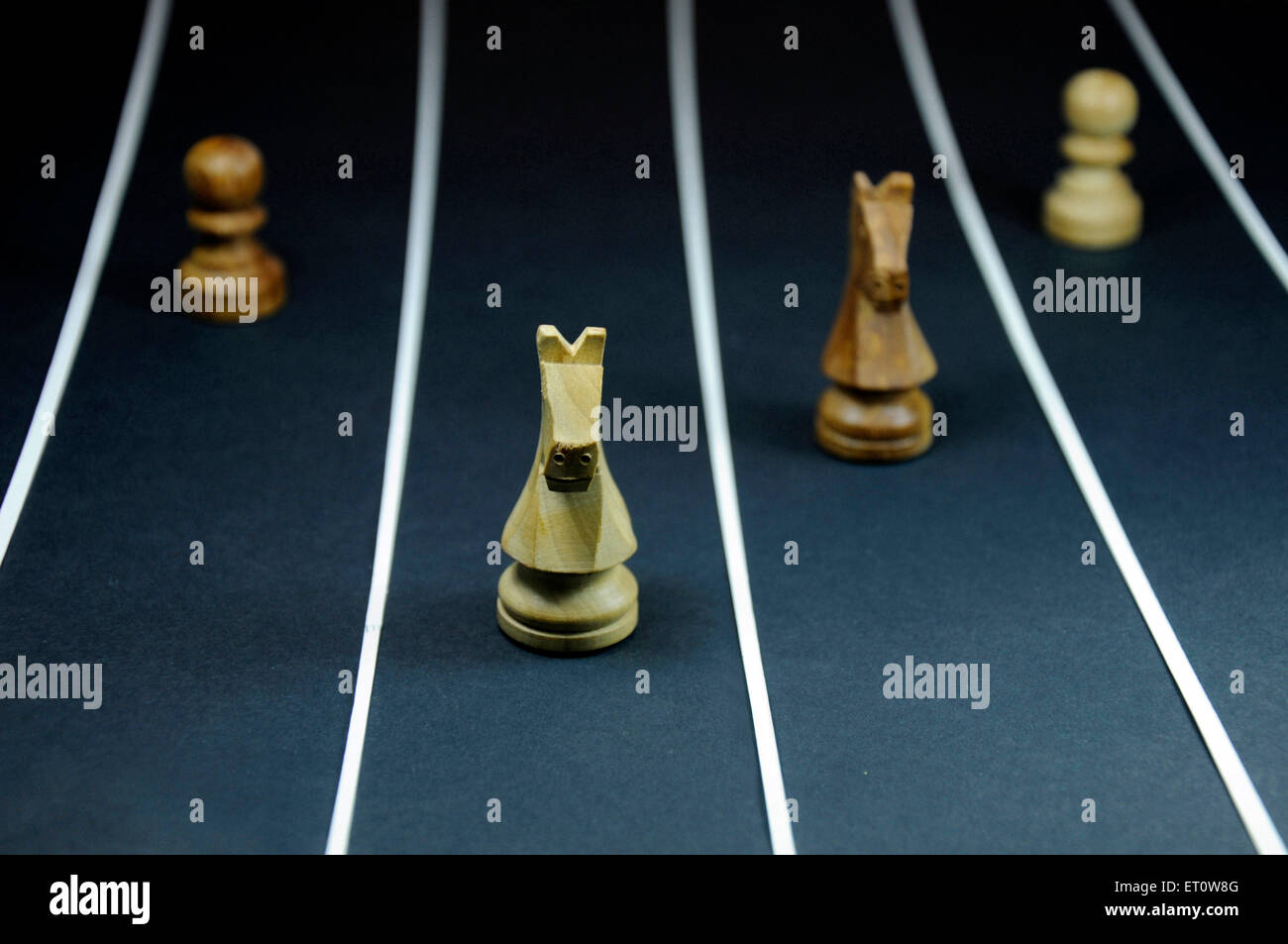 Chess concept of race India Asia - Stock Image