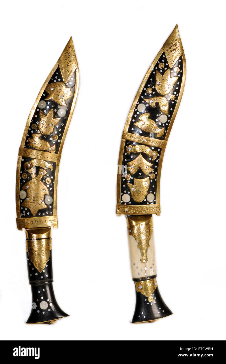 Handicraft knives ; India - Stock Image