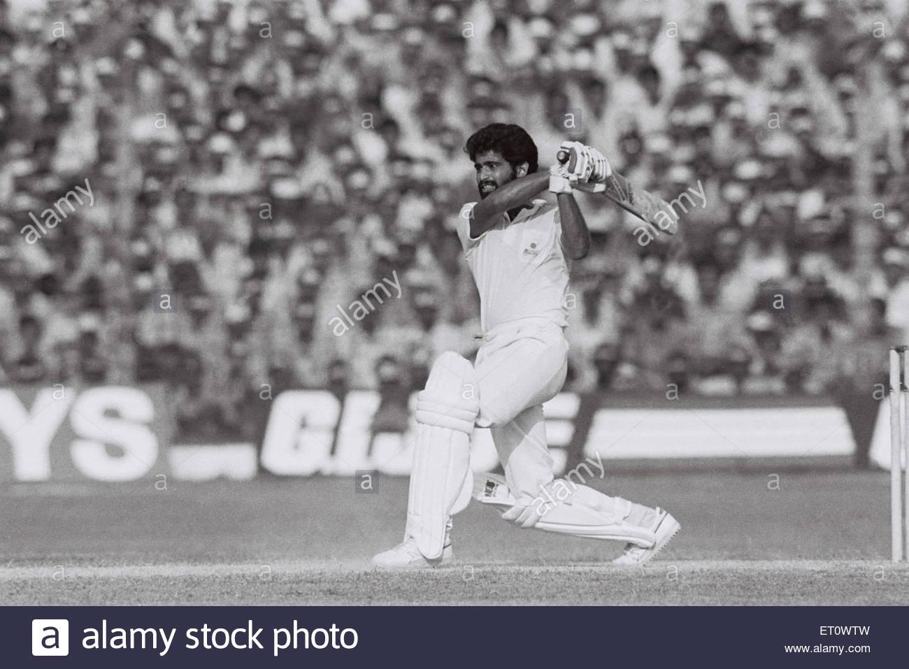 Chetan Sharma ; England versus India ; cricket match 1987 ; Kanpur ; India NOMR - Stock Image