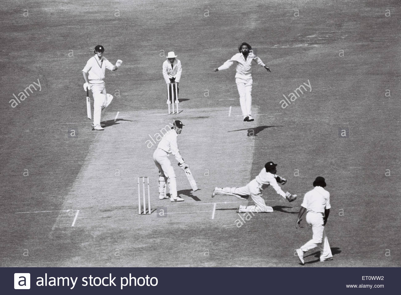 West Indies versus India ; cricket match   1979 ; Calcutta ; Kolkata ; India - Stock Image