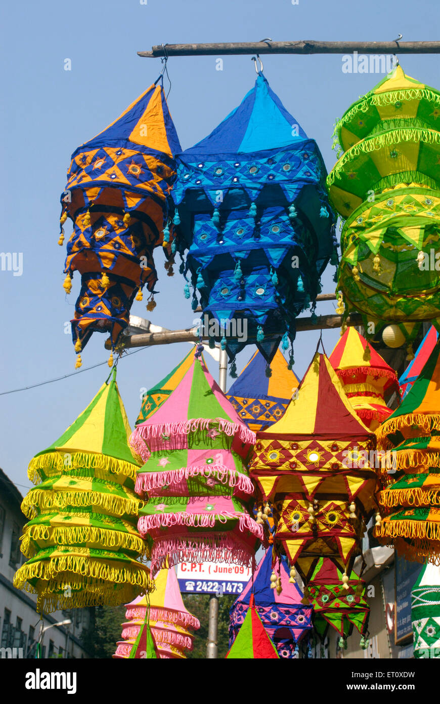 Colourful lanterns cloth lampshades handicraft work akashkandil hang colourful lanterns cloth lampshades handicraft work akashkandil hang shop for sell celebrating diwali festival dadar bombay mozeypictures Image collections