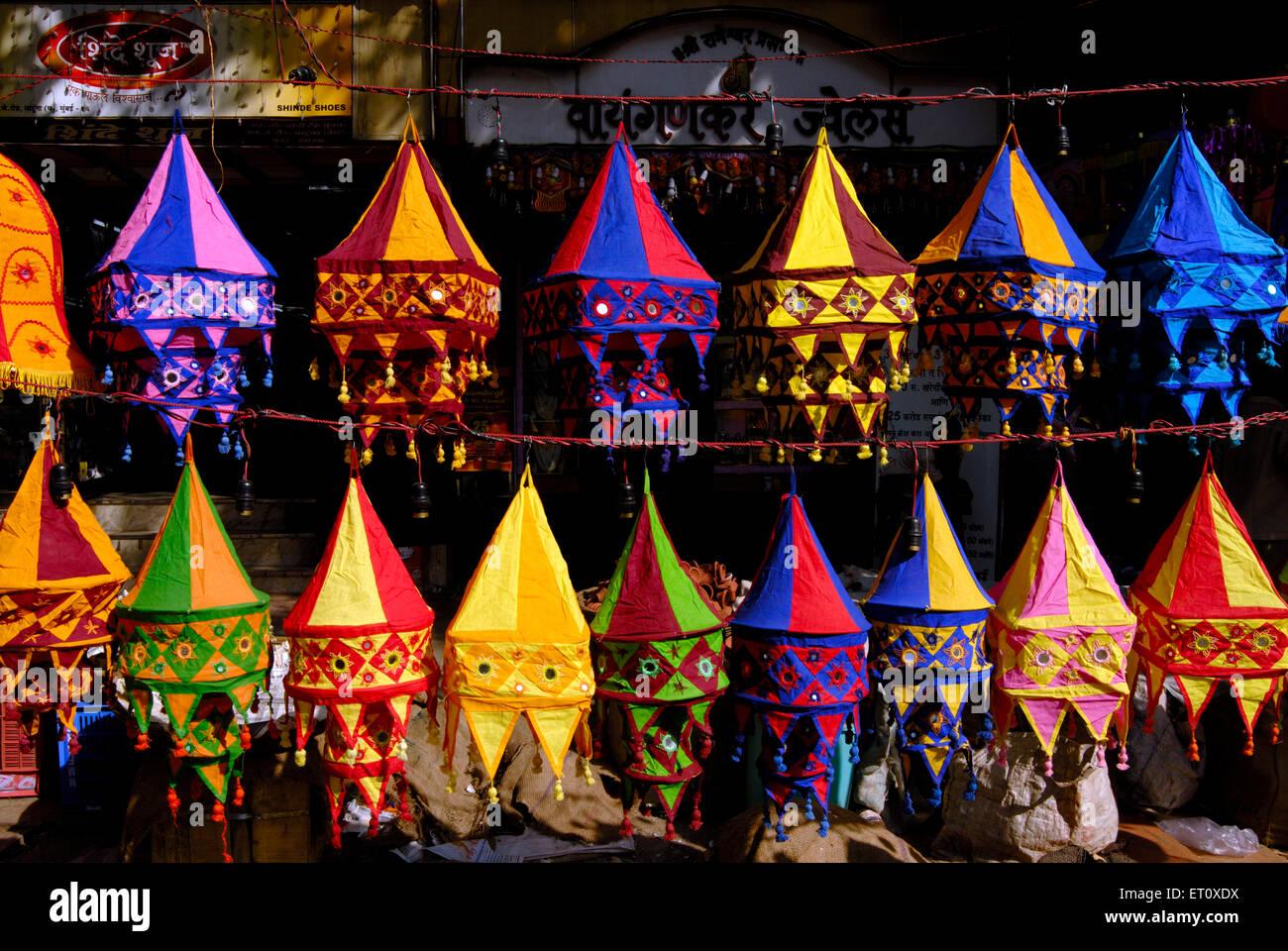 Colourful lanterns cloth lampshades handicraft work akashkandil hang colourful lanterns cloth lampshades handicraft work akashkandil hang shop for sell celebrating diwali festival dadar bombay aloadofball Images