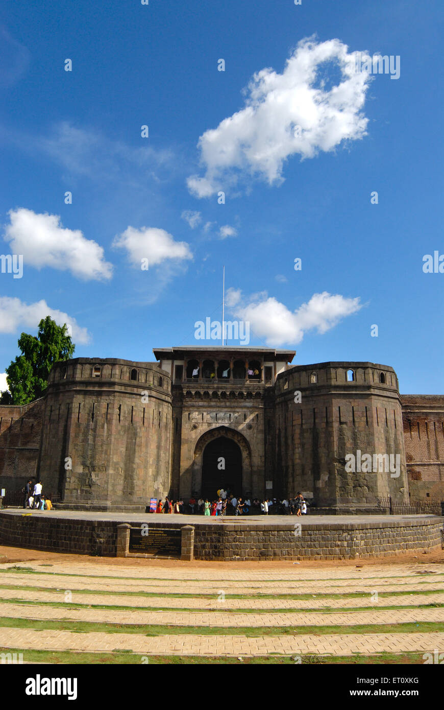 Delhi darwaja with massive bastion at shanwarwada shaniwarwada ; Pune ; Maharashtra ; India - Stock Image
