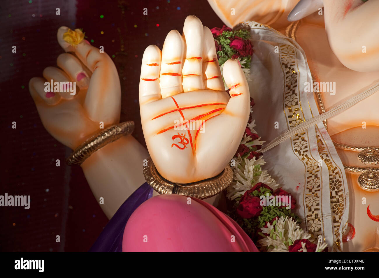 Hand Of Lord Ganesh With Om Symbol On Ganpati Festival Bombay