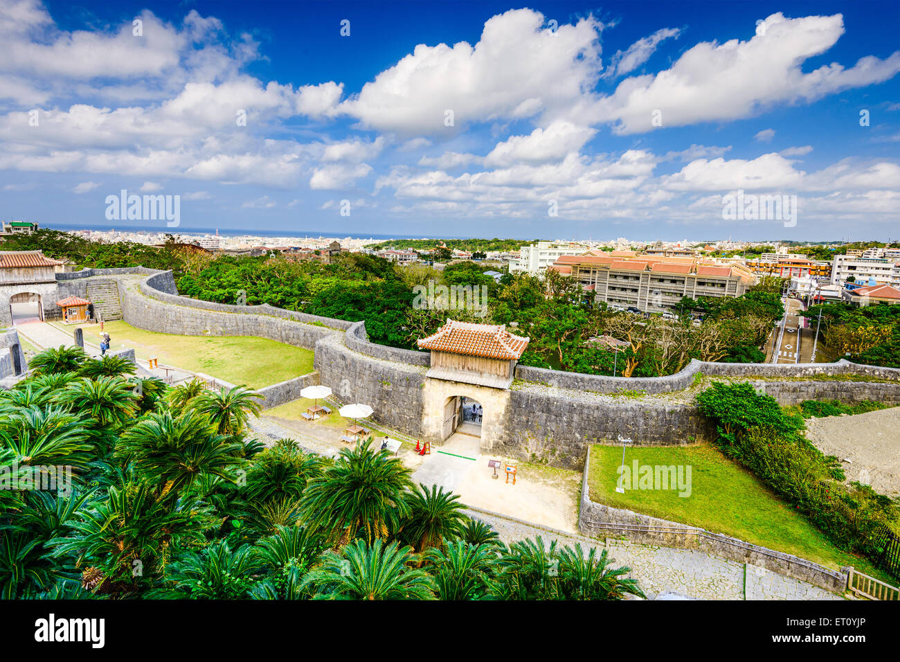 Naha, Okinawa, Japan at the outer wall of Shuri Castle. Stock Photo