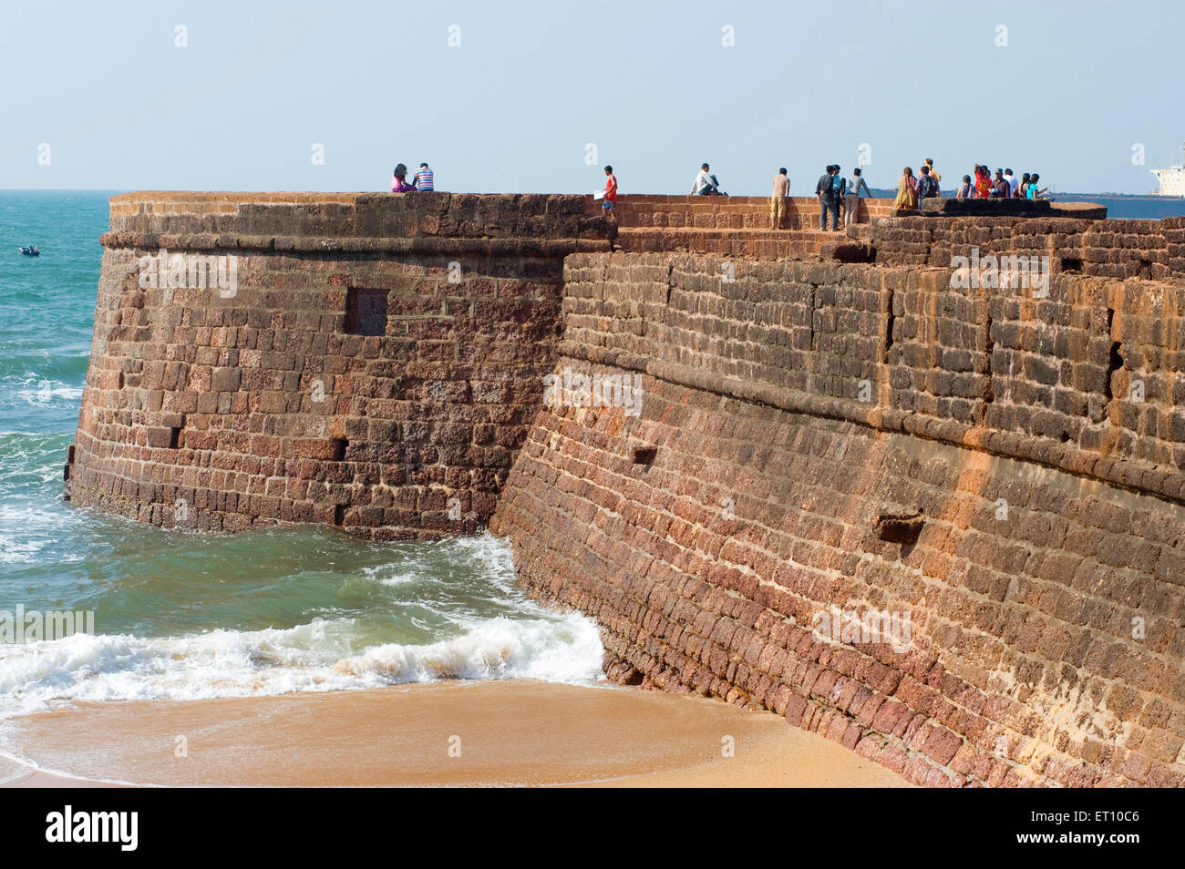 Fort Aguada on Sinquerim Beach ; Goa ; India - nmk 177253 - Stock Image