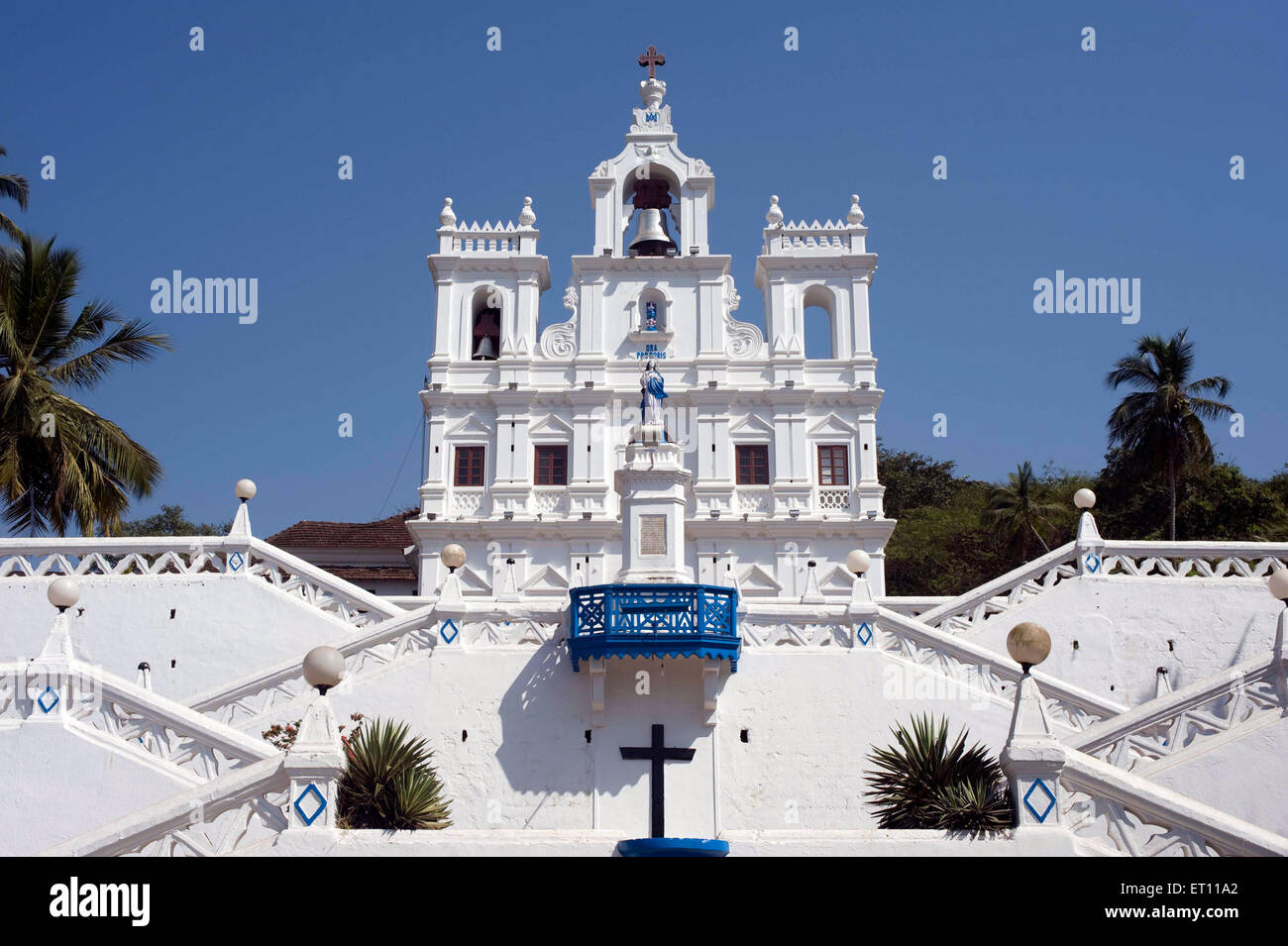 Church of Our Lady of the Immaculate Conception at Panjim Goa India Asia 2011 - Stock Image