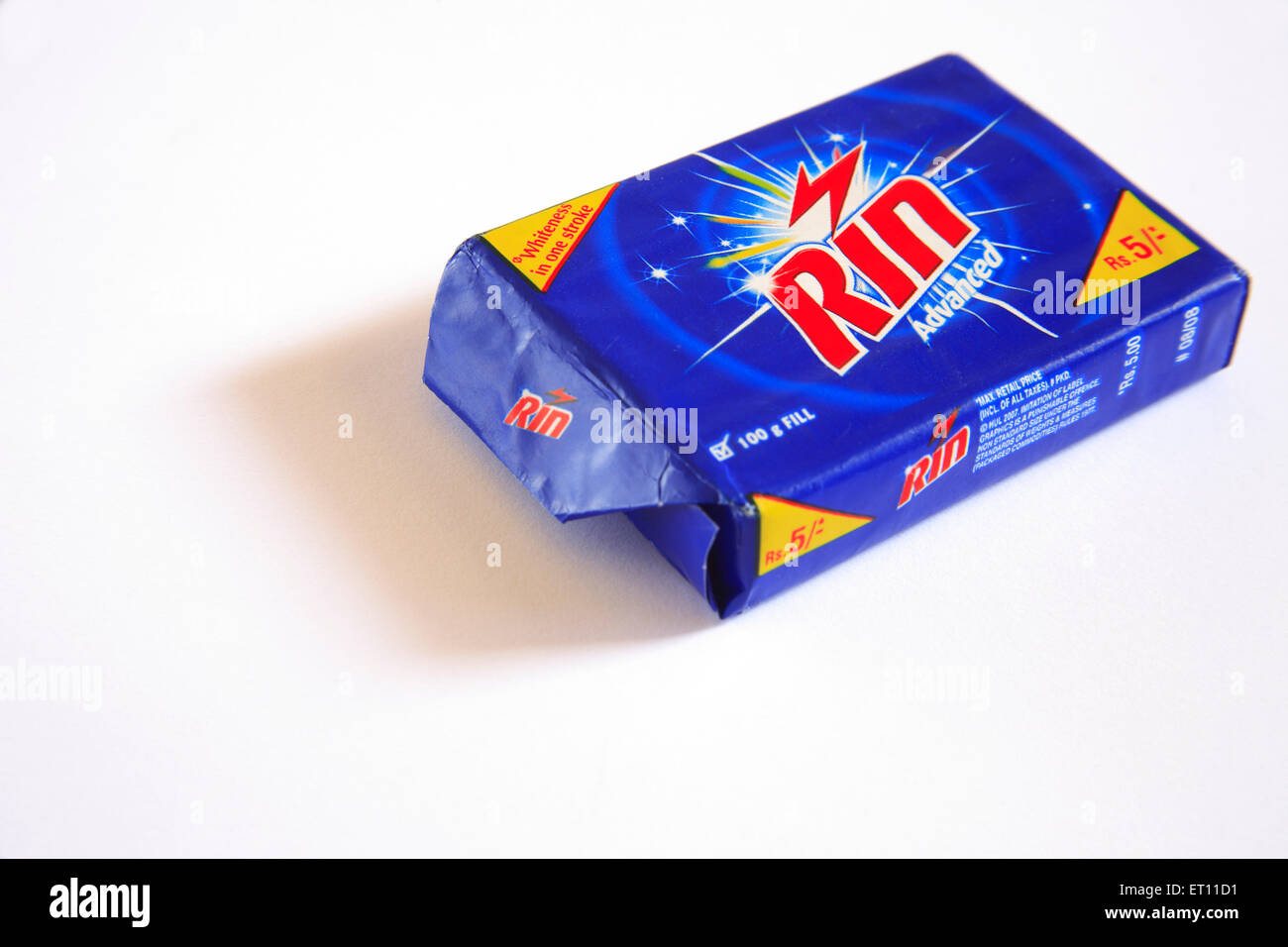 Detergent cack rin advanced whiteness on white background - Stock Image