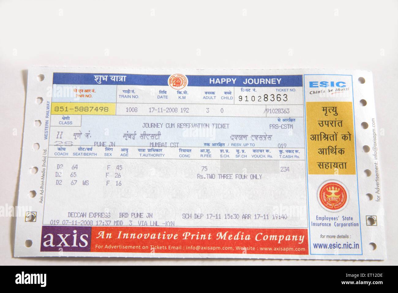 Railway Ticket Stock Photos & Railway Ticket Stock Images