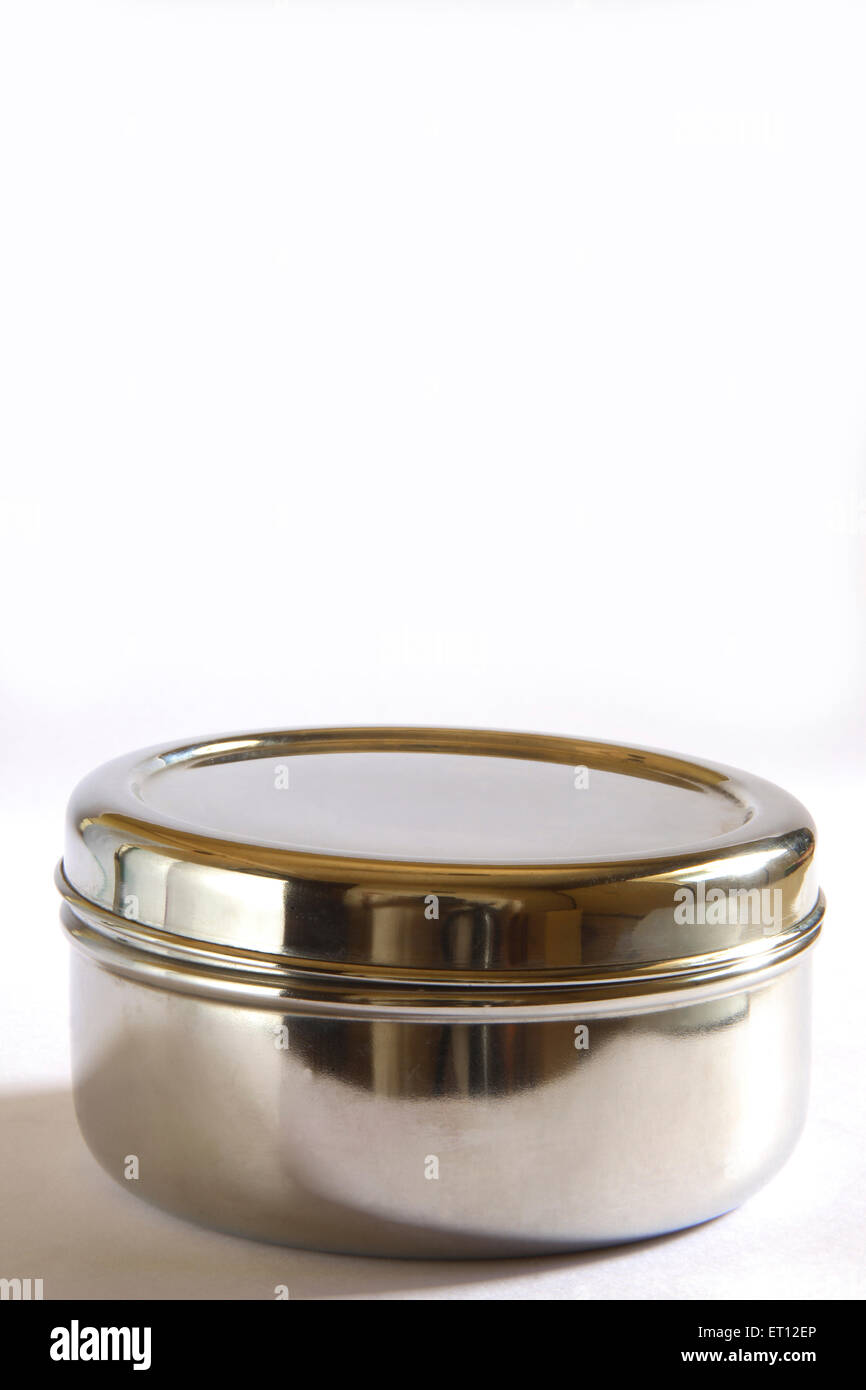 Box ; steel container ; India - Stock Image