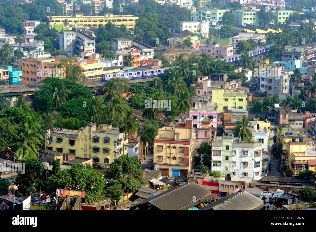 Metro train kolkata west bengal India Asia - Stock Image