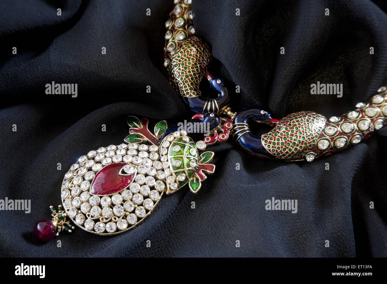 Diamond necklace - Stock Image