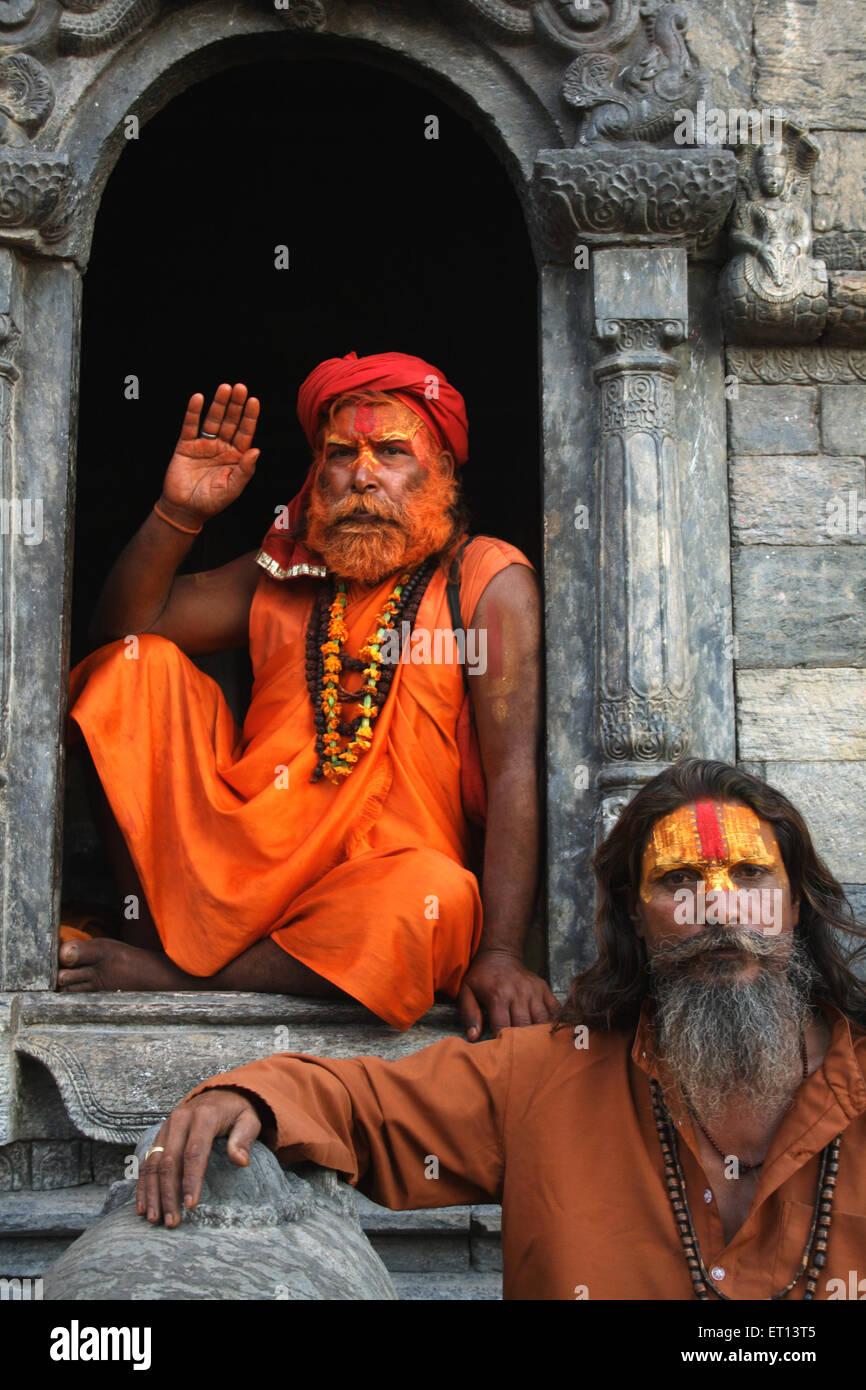 Sadhus ; Nepal October 2008 - Stock Image