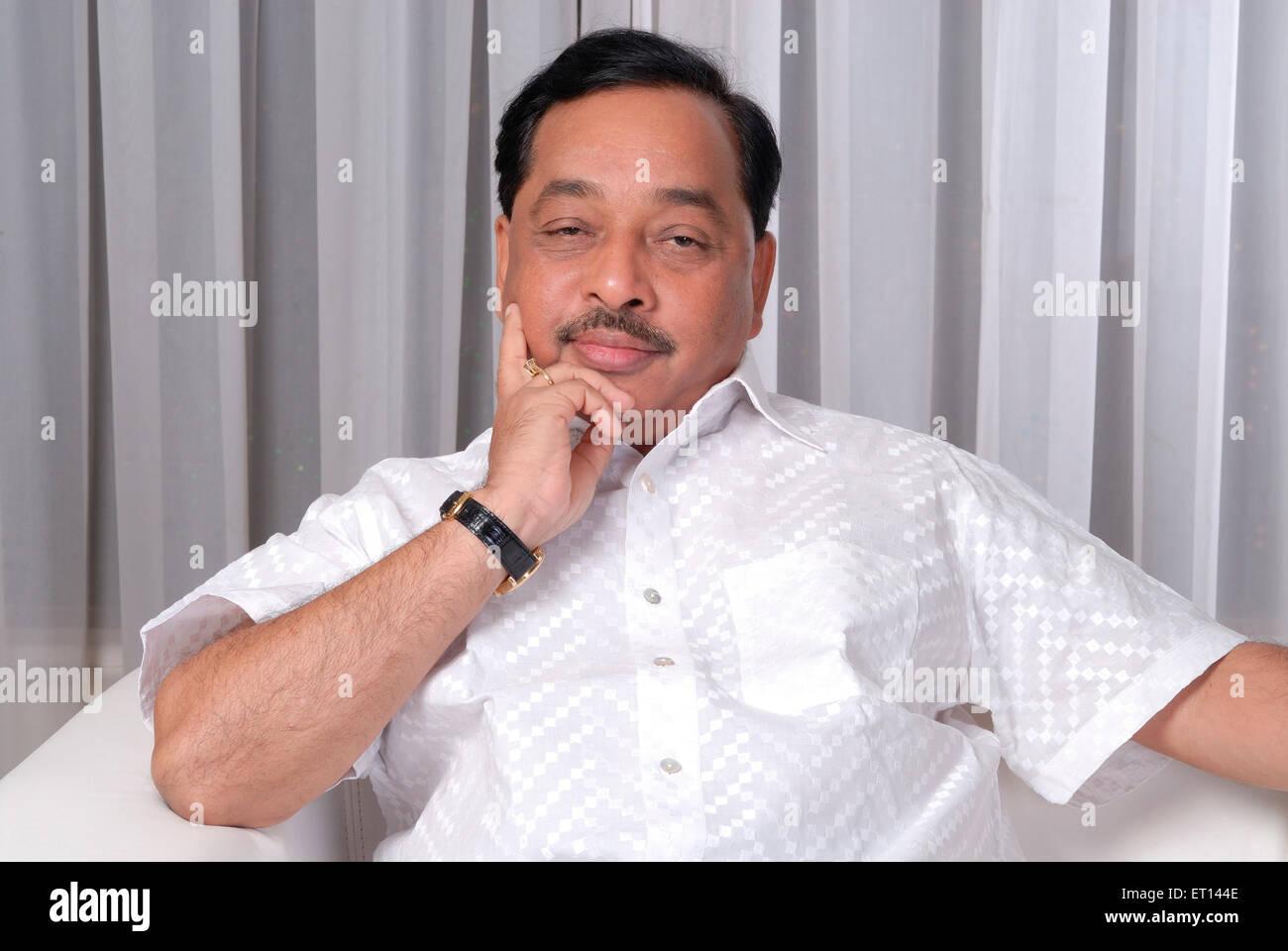 Politician Narayan Rane leader of congress party NO MR - Stock Image