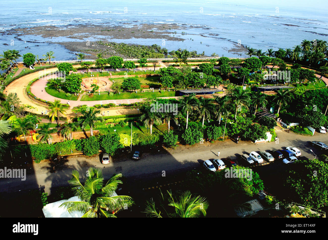 Joggers park at bandra ; Bombay ; Mumbai ; Maharashtra ; India - Stock Image