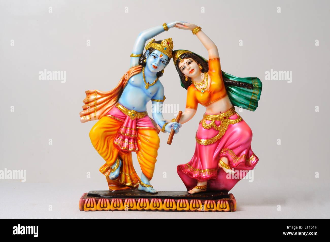 clay statue of god and goddess radha and krishna ET151H