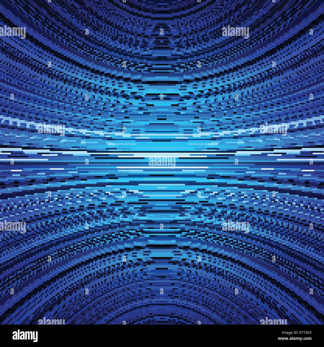 Abstract blue warped stripes background. RGB EPS 10 vector illustration - Stock Image