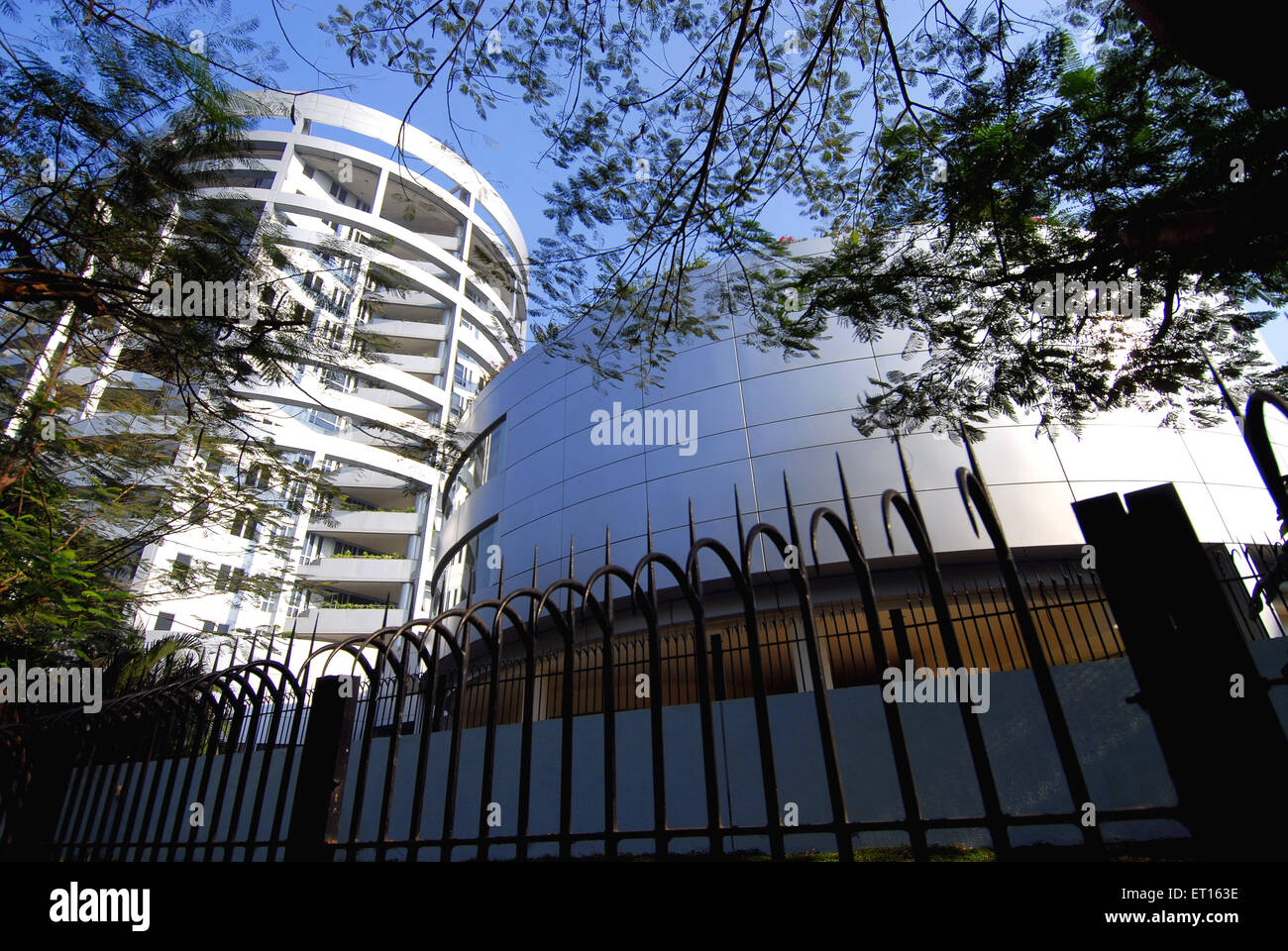 High Tech structure ; Bombay Mumbai ; Maharashtra ; India - Stock Image