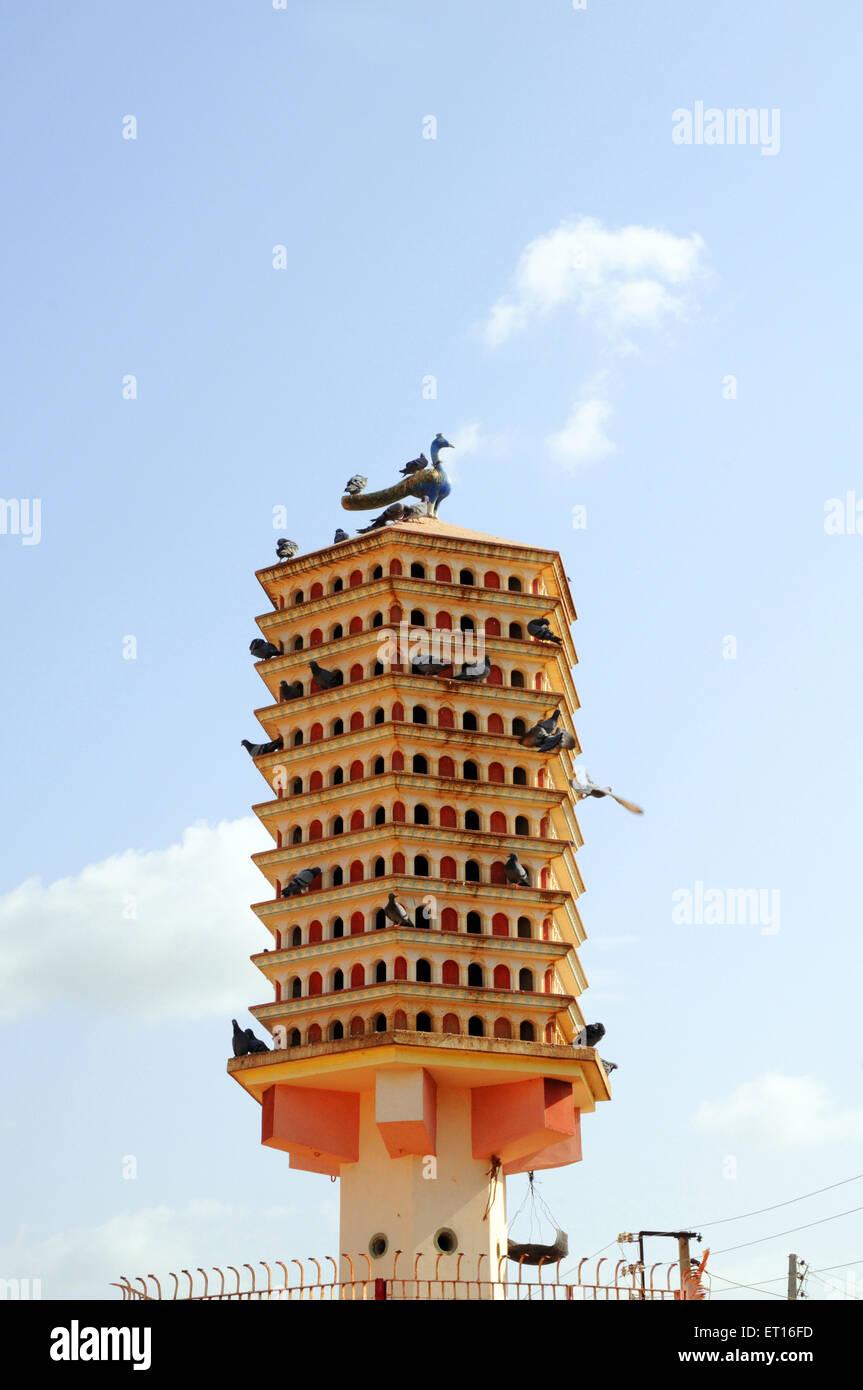 Chabutaro shelter for pigeons kabutarkhana ; Mundra ; Kutch ; Gujarat ; India - Stock Image