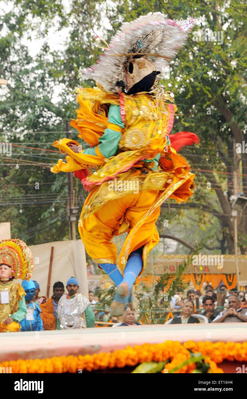 Folk dancer at orissa ; India - Stock Image