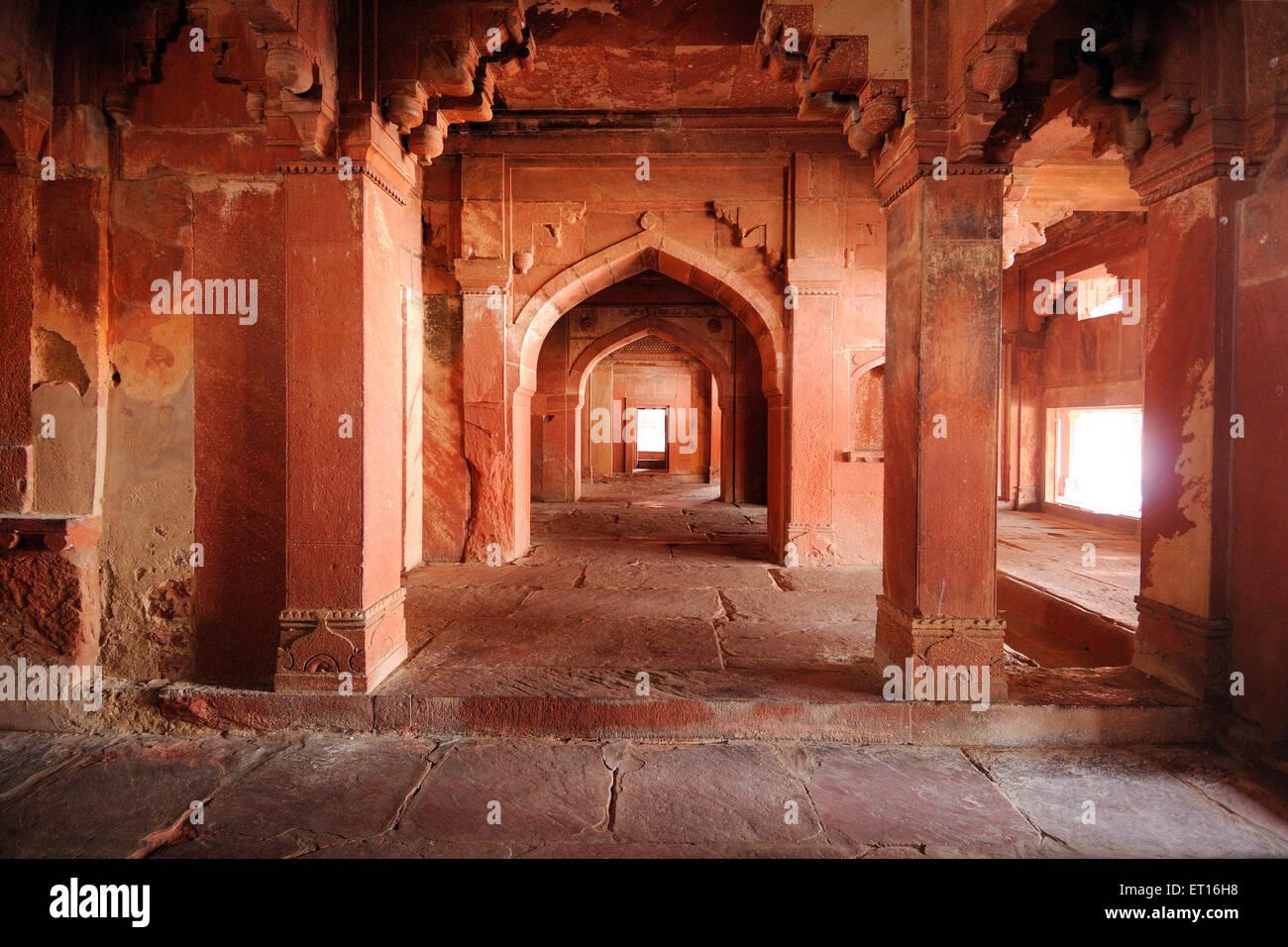 Fatehpur Sikri palace near Agra Uttar Pradesh India - Stock Image