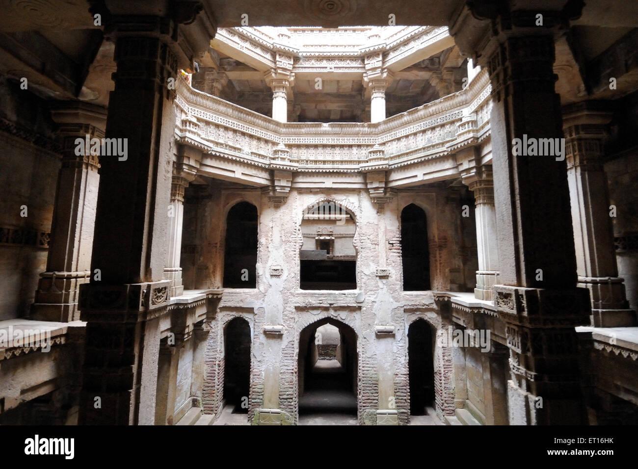 Adalaj vav at ahmedabad ; Gujarat ; India - Stock Image