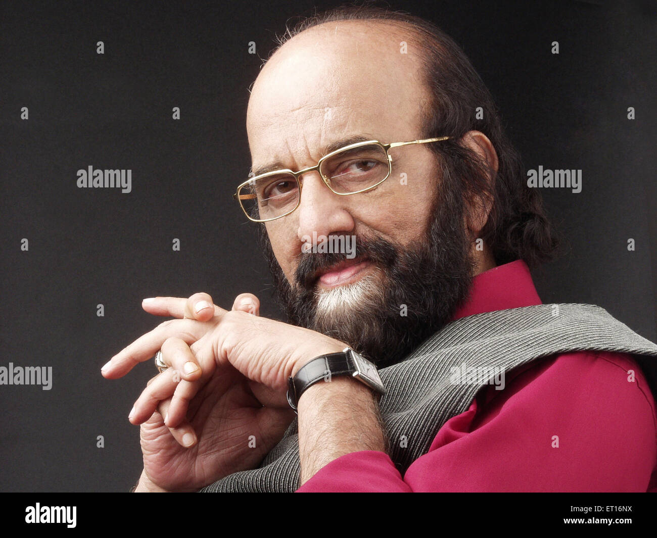Renowned marathi dramatist Mr. mohan wagh ; India NOMR - Stock Image