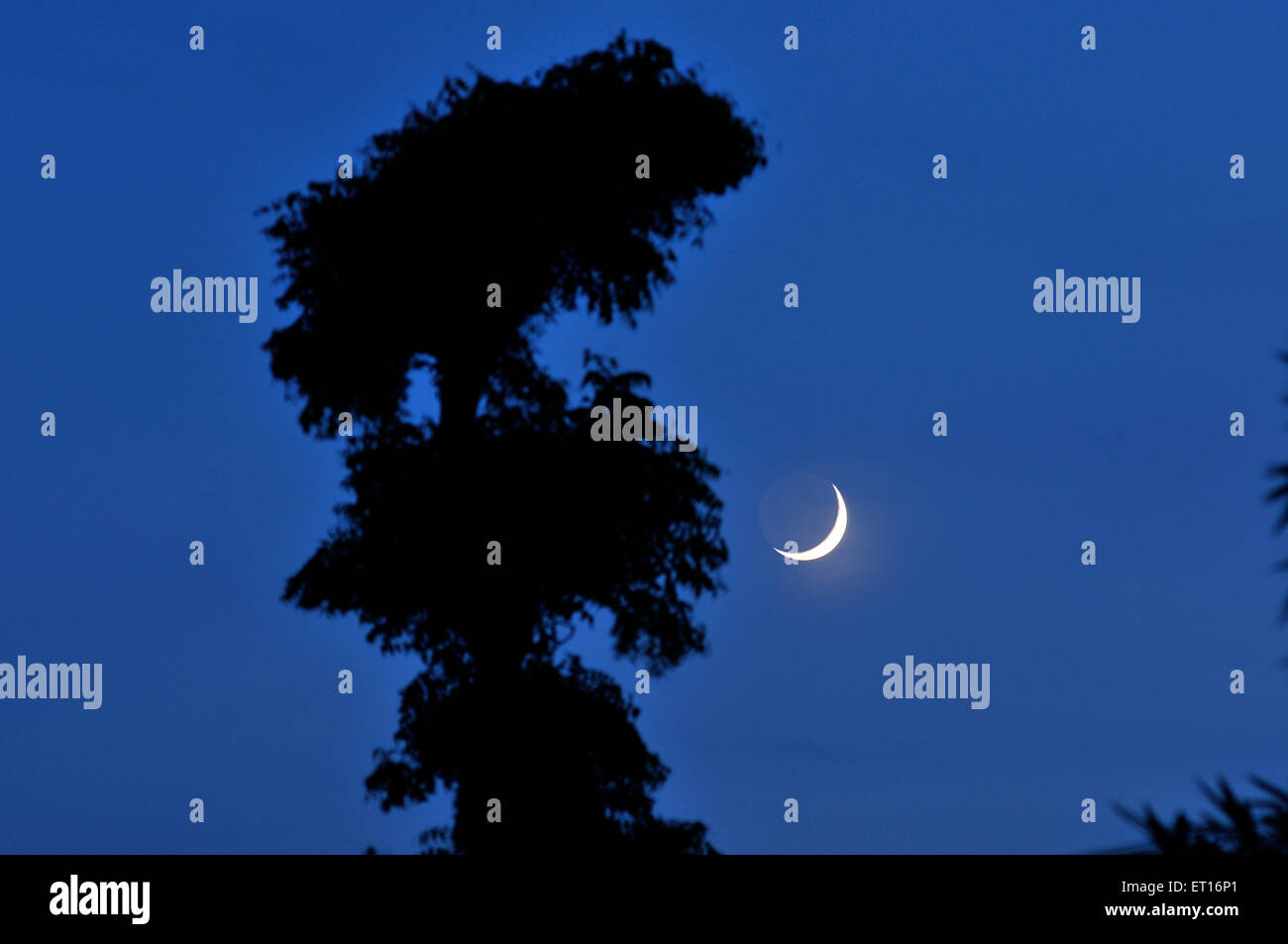 Eid ka Chaand Lunar phase is Waxing Crescent - Stock Image