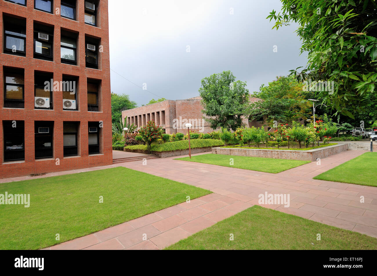 Indian Institute of Management Ahmedabad India Asia - Stock Image
