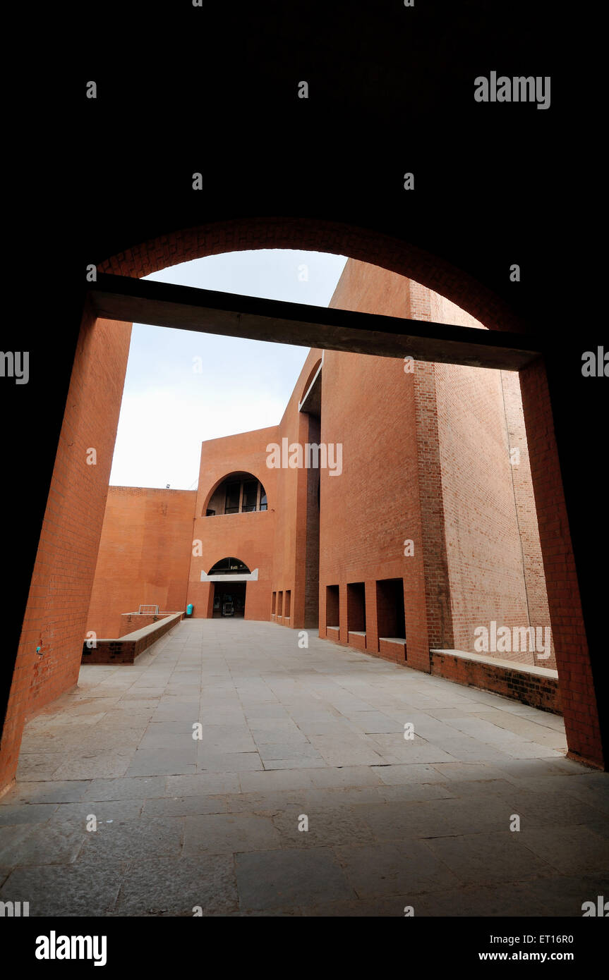 Indian Institute of Management Ahmedabad Gujarat India Asia - Stock Image