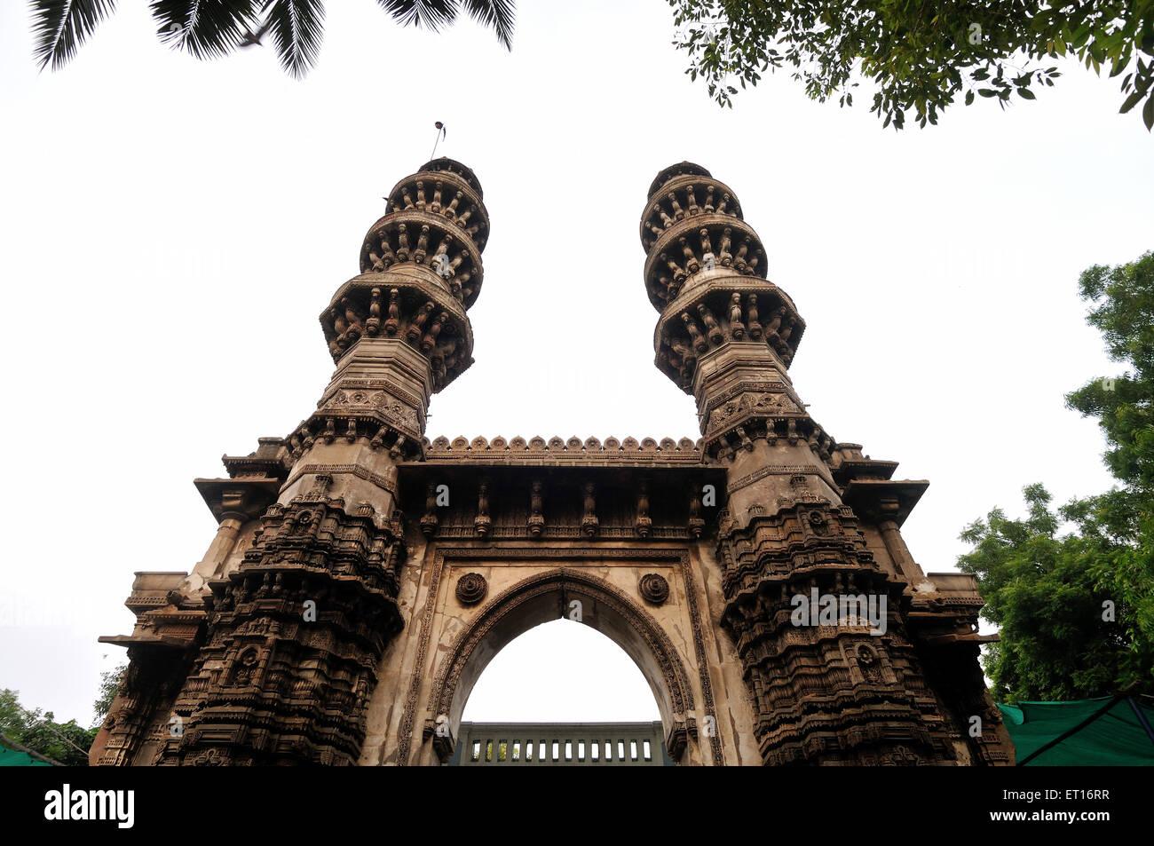 Jhulta Minar is located in Ahmedabad Gujarat India Asia - Stock Image
