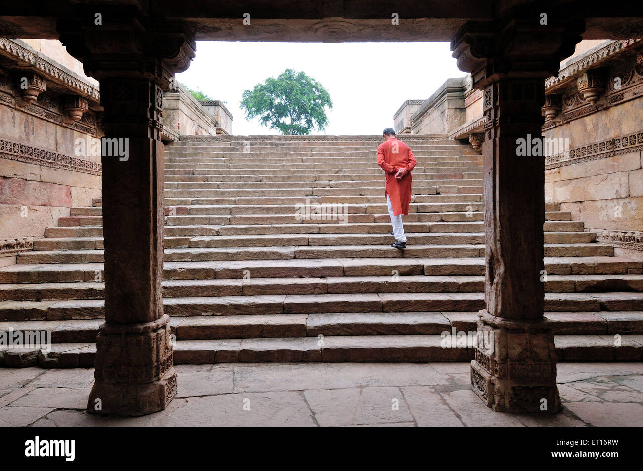 Steps of Rudabai ni Vav Ahmedabad Gujarat India Asia Stock Photo