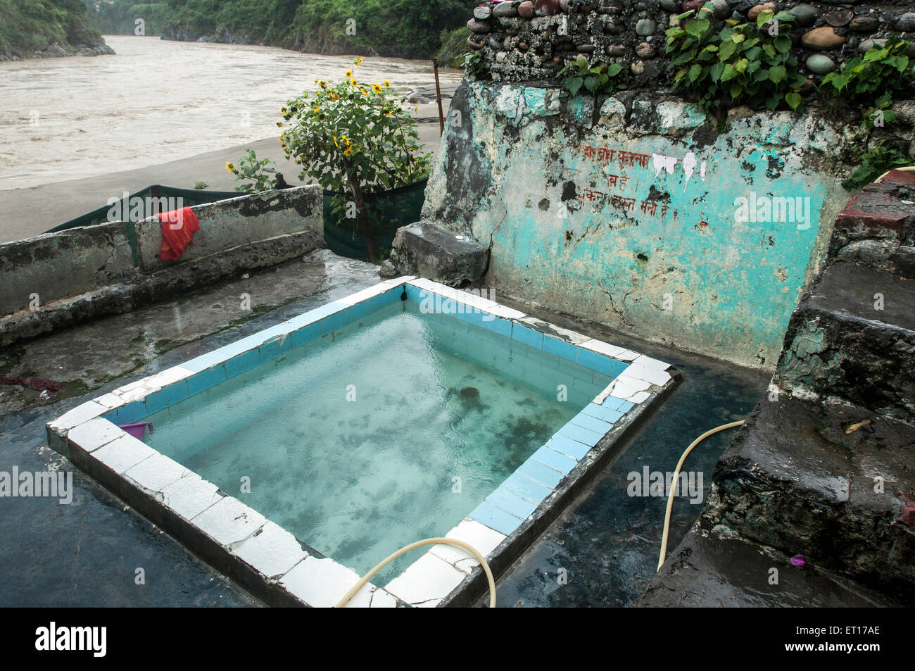Tattapani Hot springs bathing pool Shimla Himachal Pradesh India Asia - Stock Image