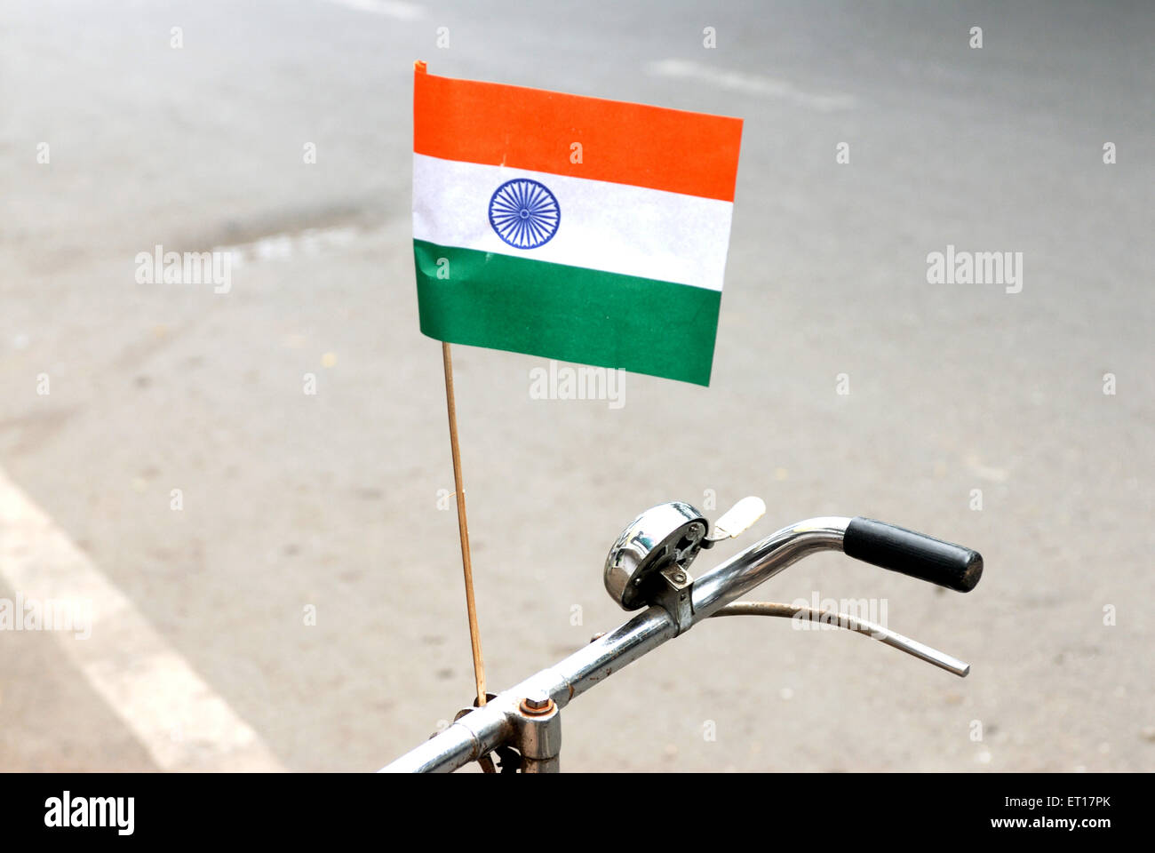 Indian flag on independence day - Stock Image