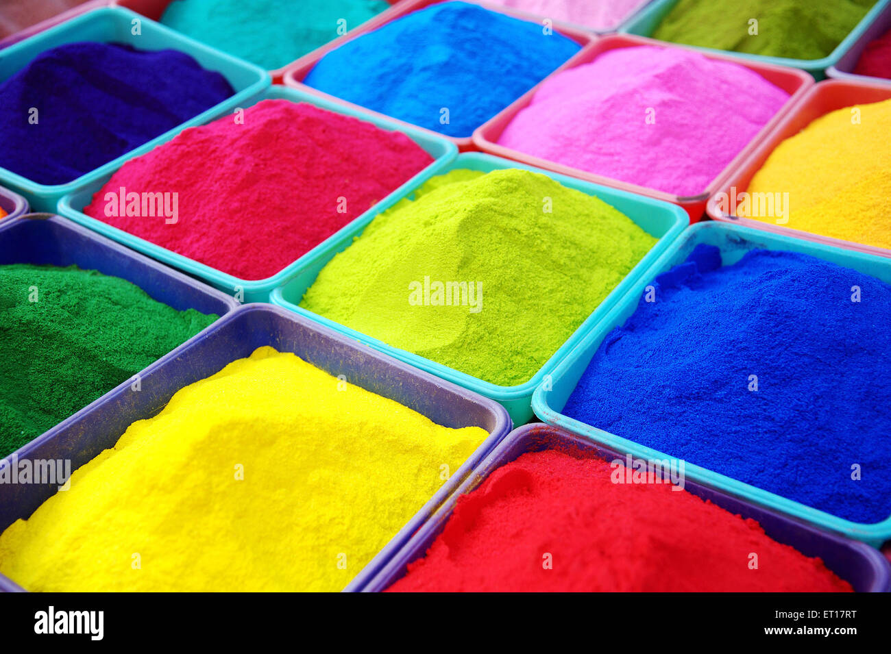 Holi Festival Different Colours For Sale - Stock Image