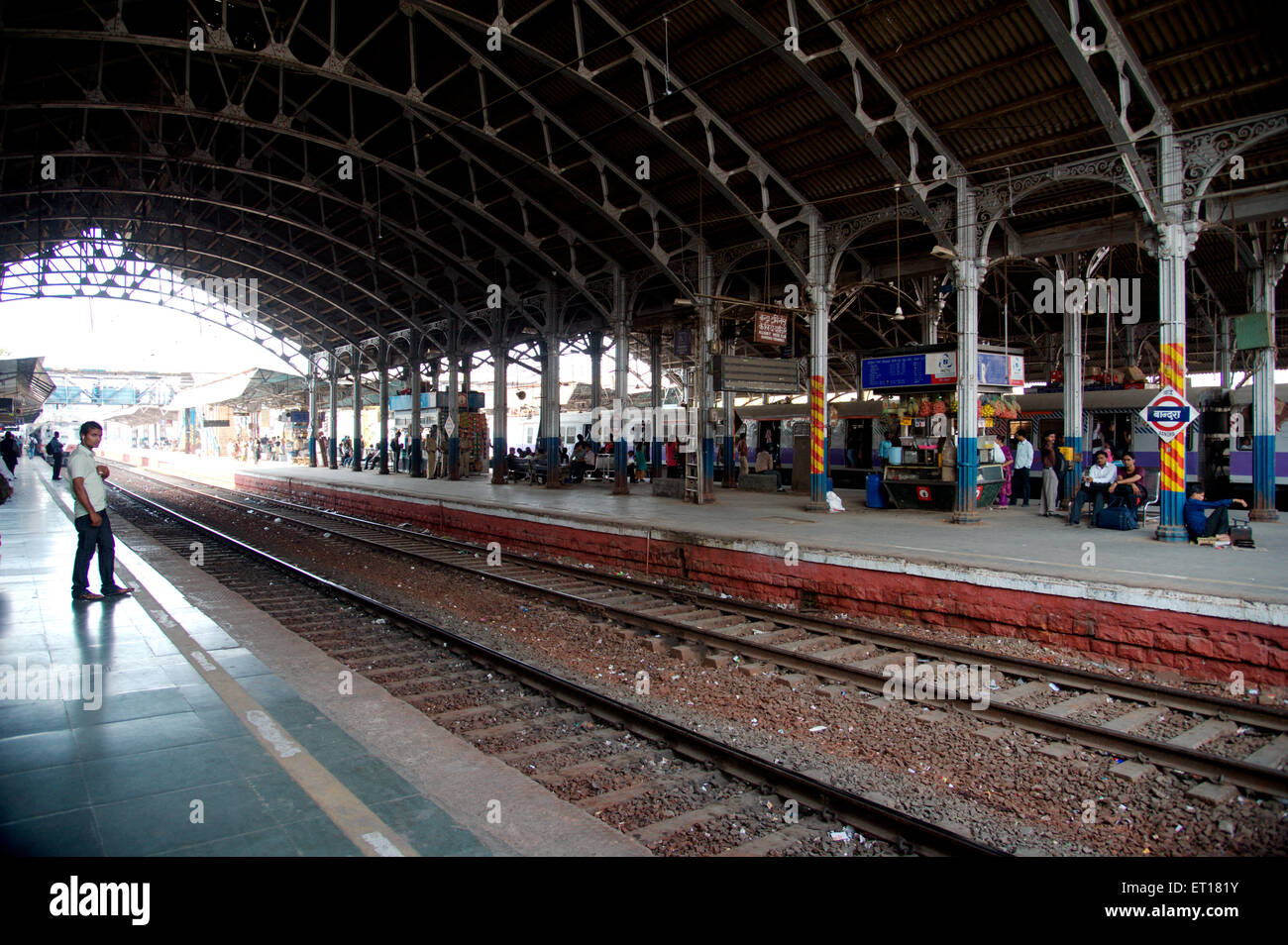 Bandra Railway Platform Mumbai Maharashtra India Asia - Stock Image