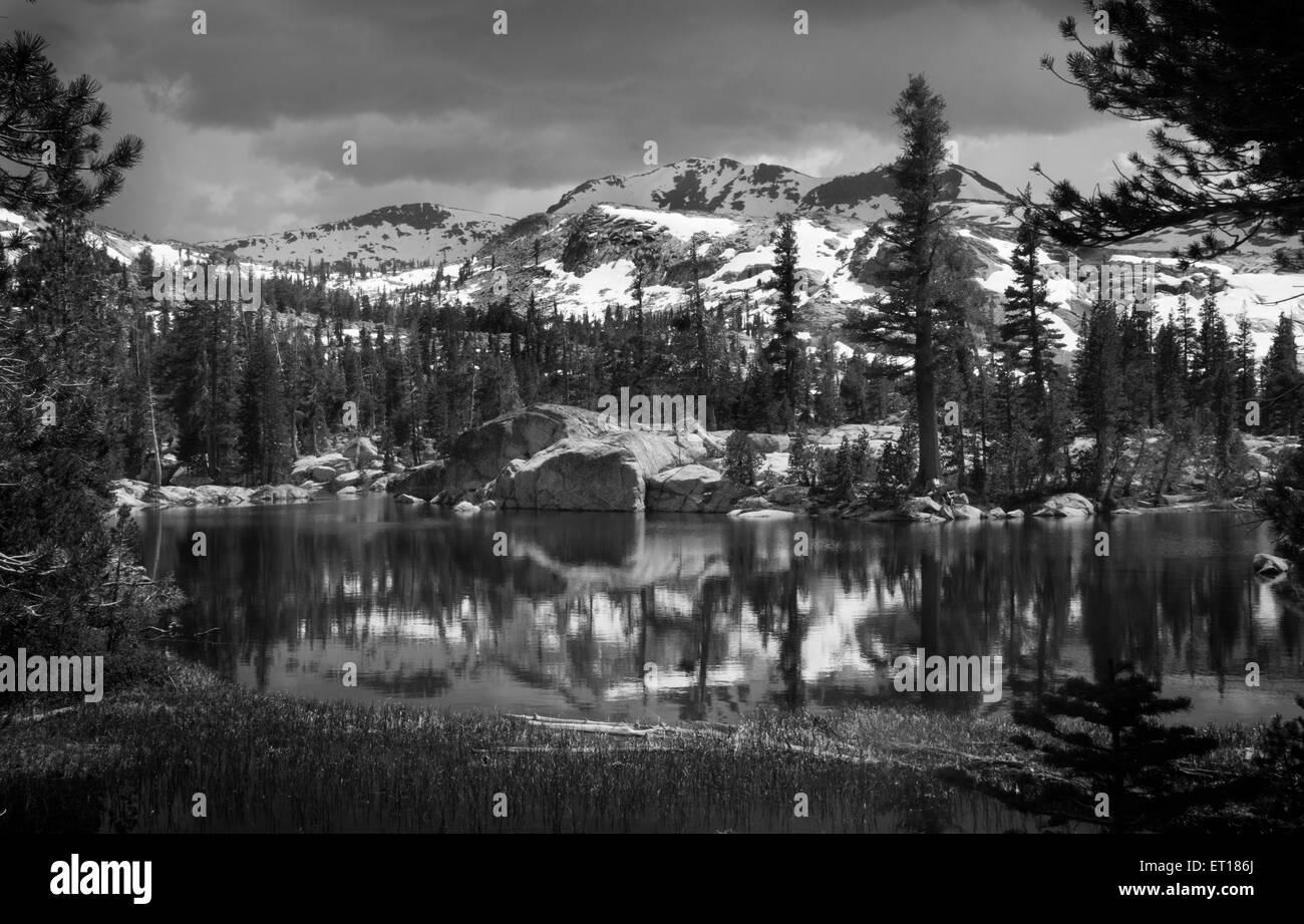 Upper Velma Lake, Desolation Wilderness - Stock Image