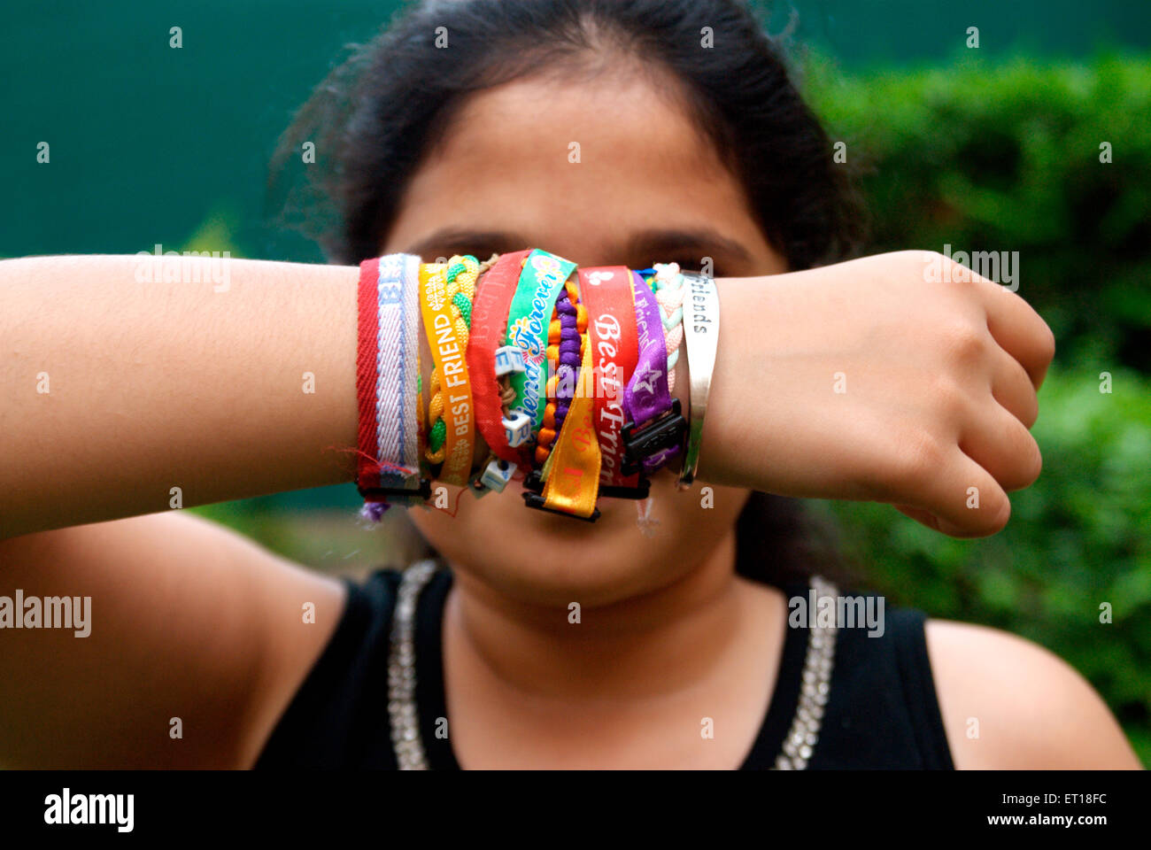 Friendship Belt Tie on Friendship Day MR#364 - Stock Image