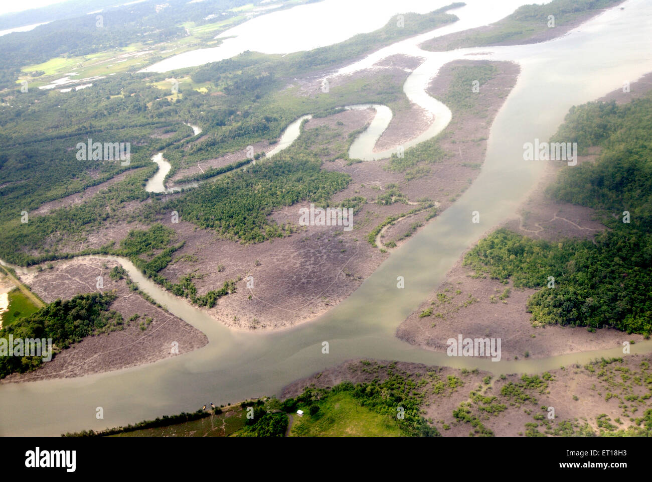 Arial view of Bay of Bengal ; Andaman and Nicobar Islands ; India November 2008 - Stock Image