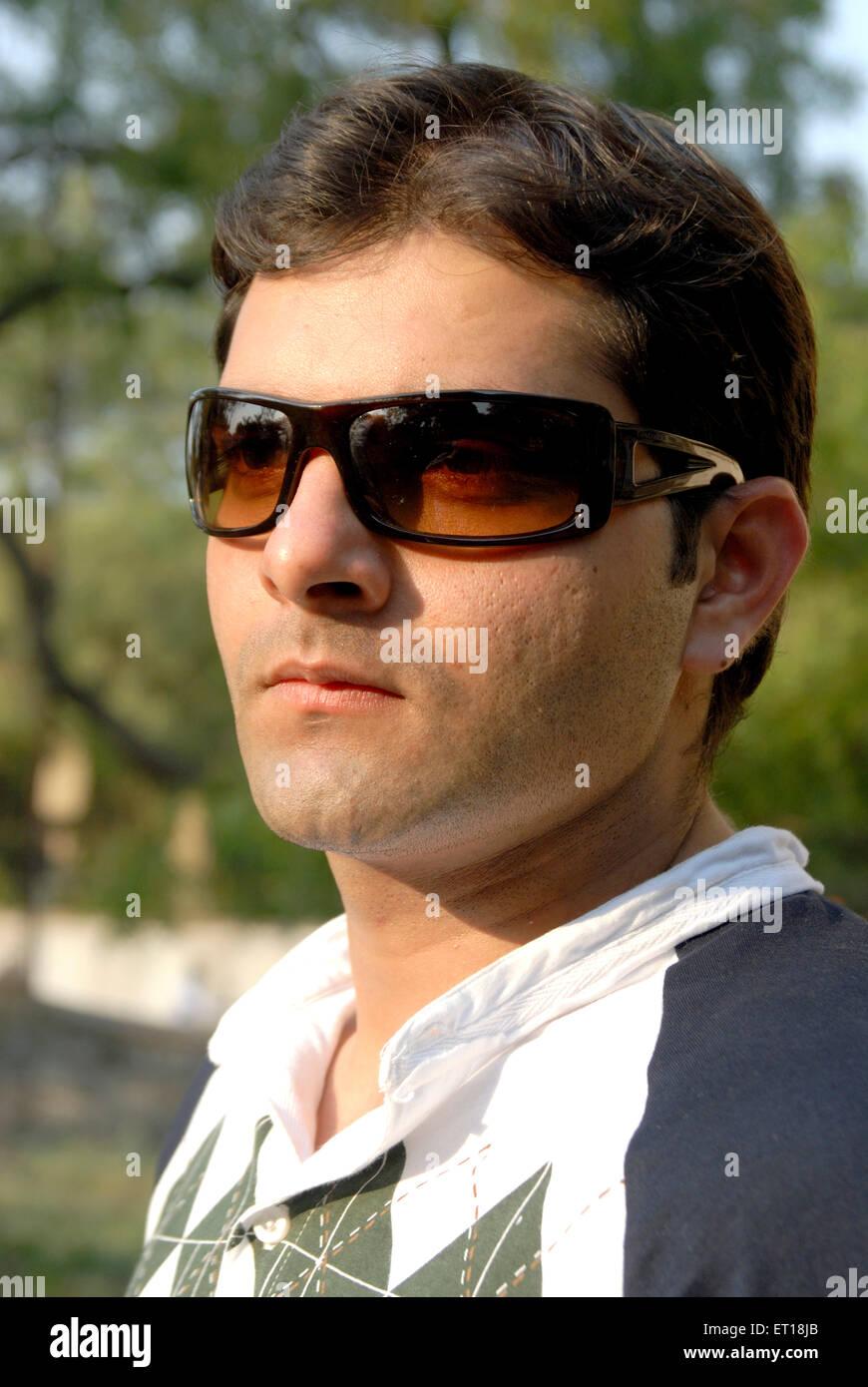Boy in sunglass MR# 364 November 2008 - Stock Image