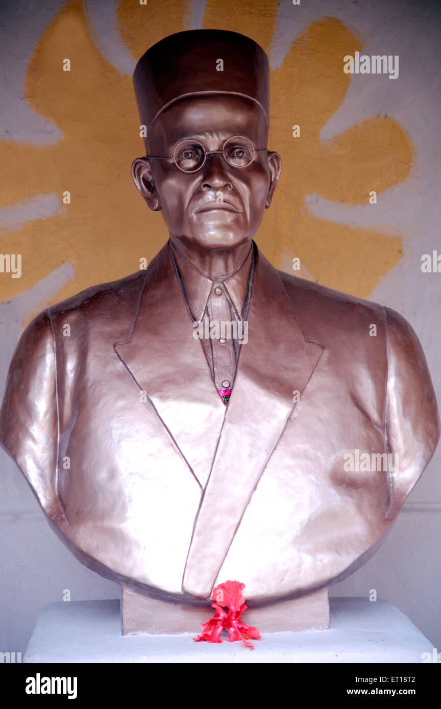 Statue of Freedom Fighter Veer Savarkar Maharashtra India Asia - Stock Image