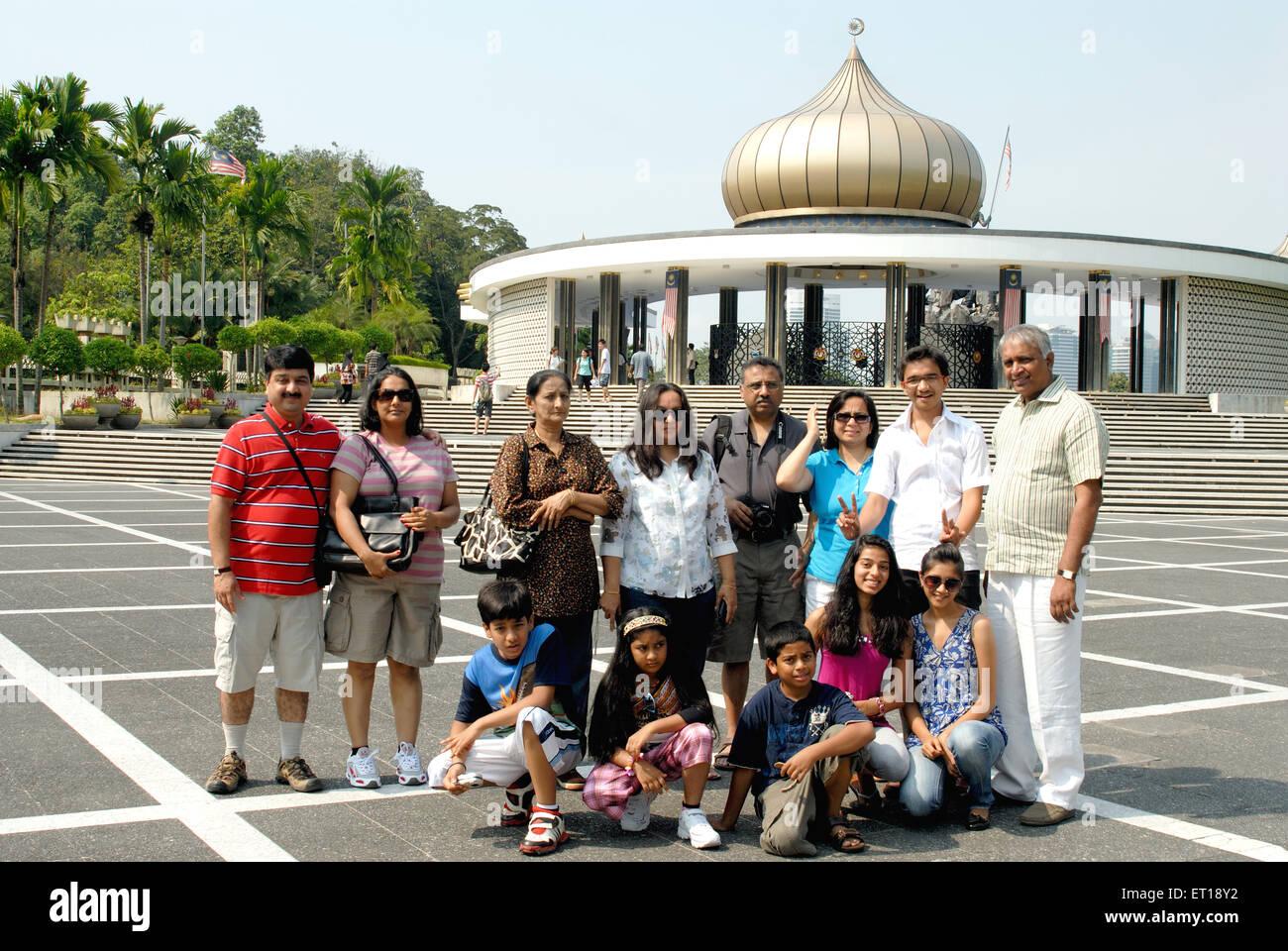 Indian family holiday vacation Jamek Mosque Kuala Lumpur Malaysia MR#364 - Stock Image