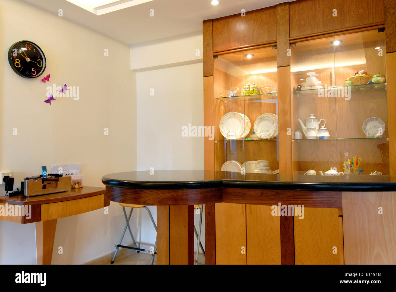 Interior of showcase in house - Stock Image