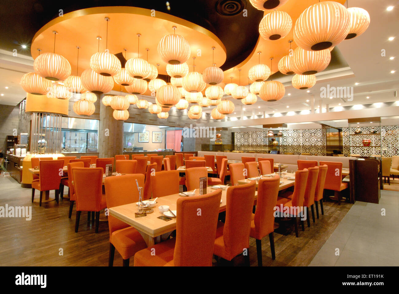 Interior of restaurant ; Suntec city ; Singapore - Stock Image