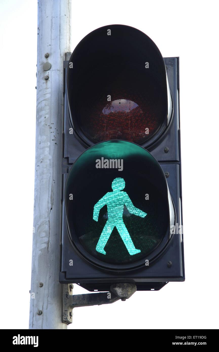 Traffic Signal Green Light India Stock Photo