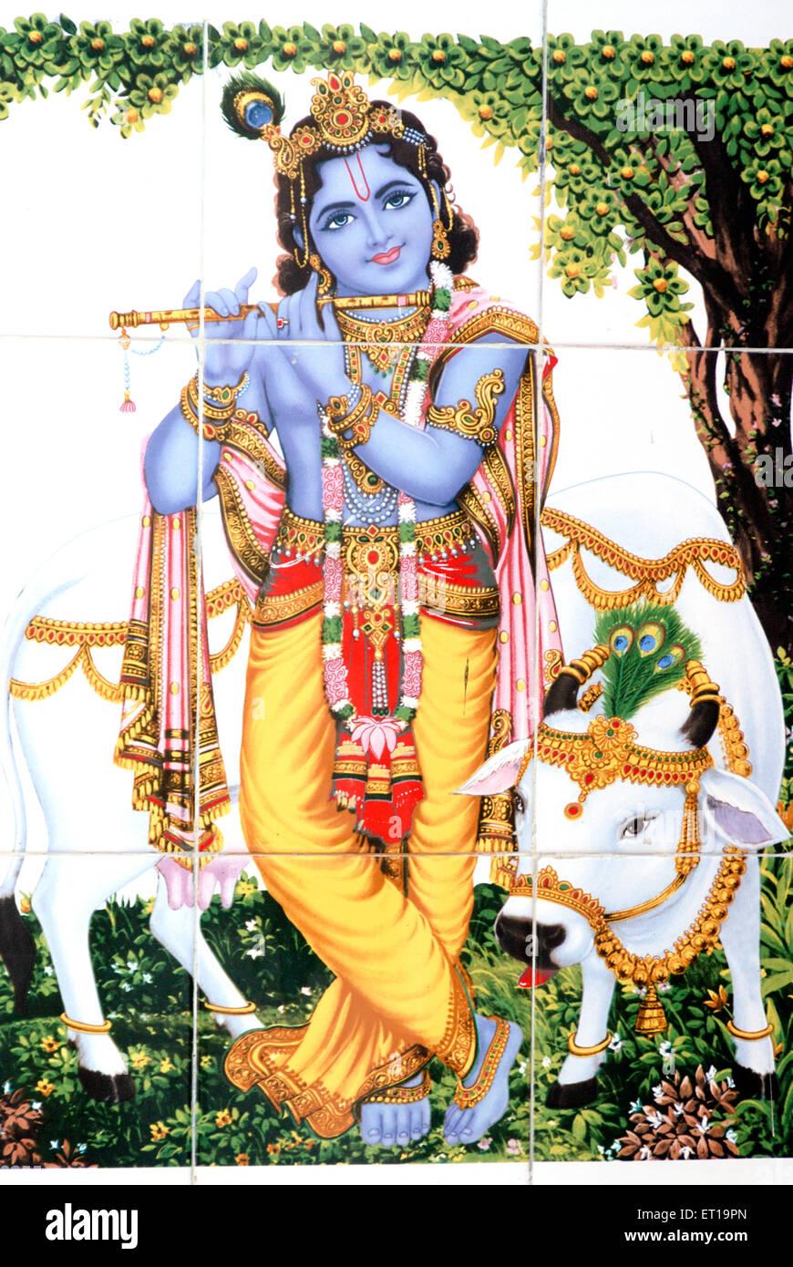 Black Vishnu Painting