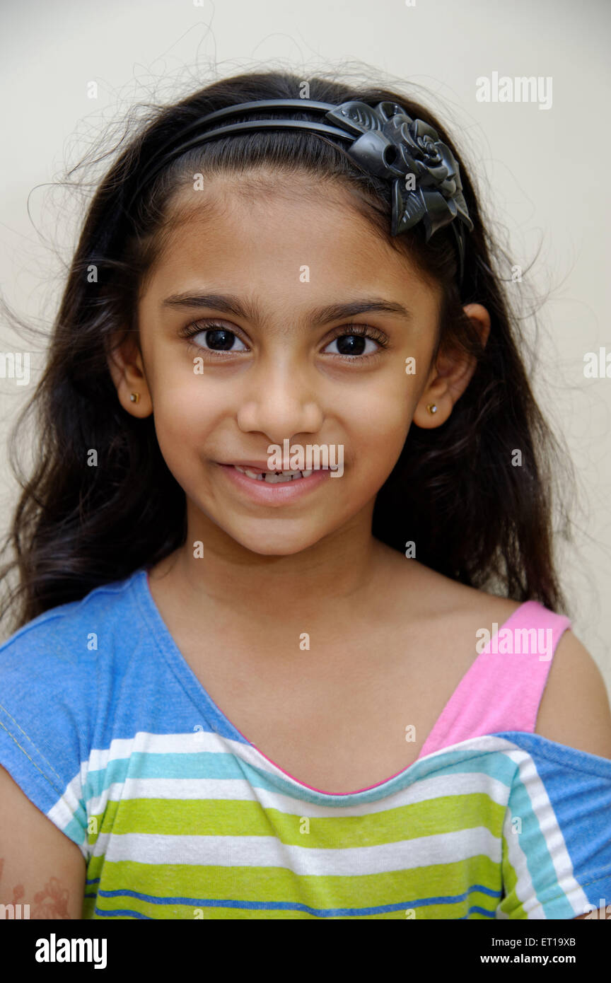 Six Years Old Indian Girl MR#736L Stock Photo