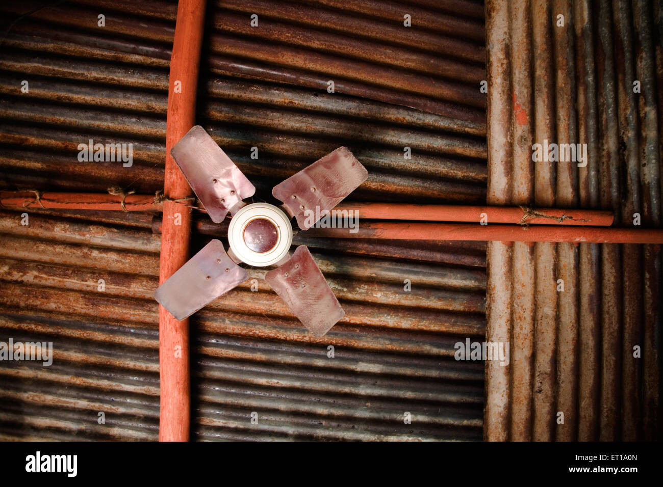 Ceiling fan ; Nandur ; Marathwada ; Maharashtra ; India - Stock Image