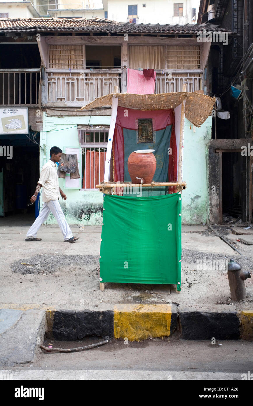 Drinking water pot on tenth day of muharram or ashura ; Bombay Mumbai ; Maharashtra ; India - Stock Image